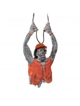 Déco zombie électricien animé 120cm
