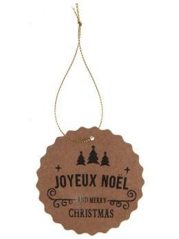 4 marques places Joyeux Noël kraft