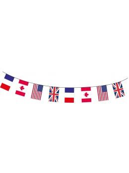Guirlande tissu USA / CANADA / ROYAUME UNIS / FRANCE