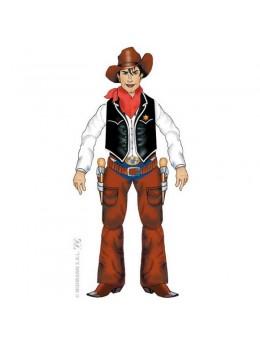 Déco cowboy en carton 140cm