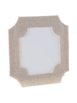6 marque place cadre coton