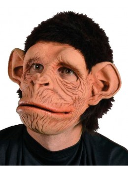 "Masque latex adulte ""Chimpanzé"""