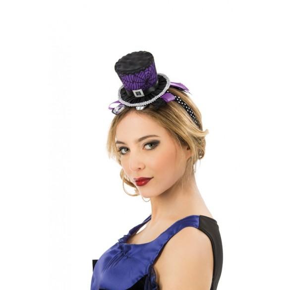taille 235603 Taille Unique Mini chapeau haut de forme squelette femme Halloween