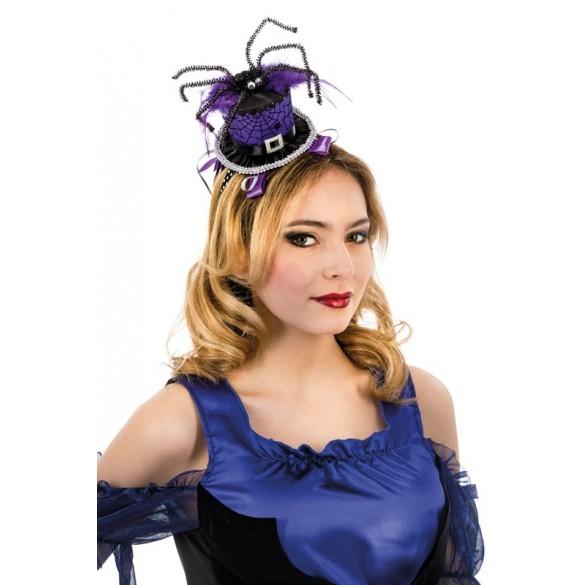 Serre tête chapeau haut de forme avec araignée 0186ce20e9c6