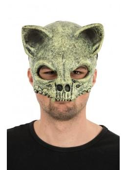 Masque latex 1/2 visage chauve souris squelette
