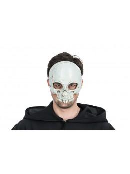 Masque latex 1/2 visage tête de mort