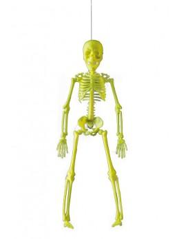 Déco mini squelette fluo 40cm