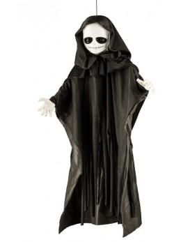 Déco poupée Halloween lumineuse 90cm
