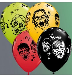 10 Ballons zombies 30cm