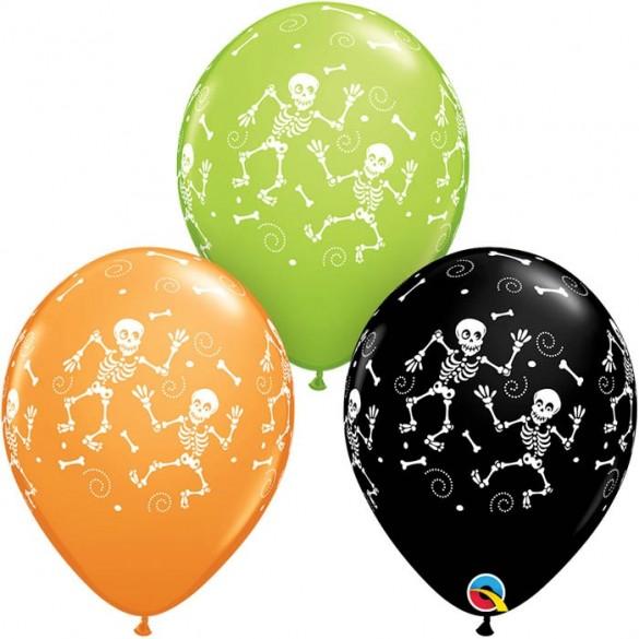 10 ballons squelette