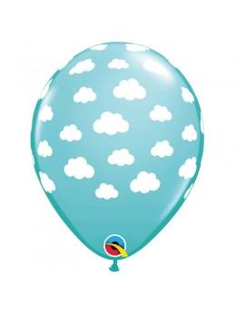10 ballons nuage bleu caraibe