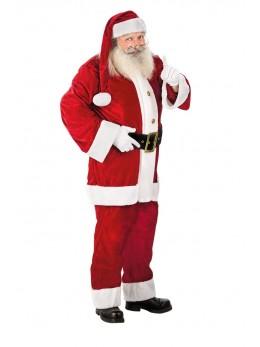 Déguisement Père Noël américain velours deluxe