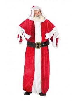 Déguisement Père Noël européen velours deluxe