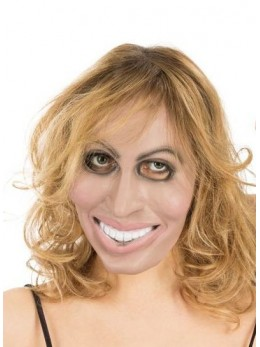 Masque latex 1/2 visage femme