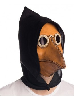 Masque latex corbeau steampunk capuche