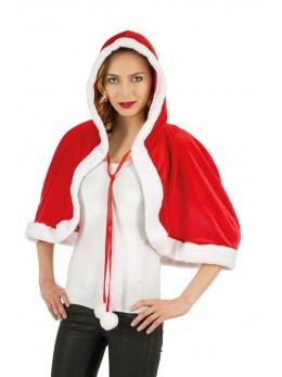 Cape capuche velours miss Santa