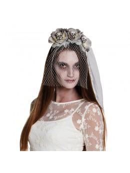 Serre tête zombie avec voile