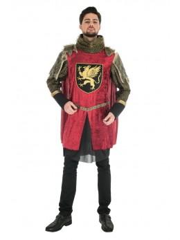 Déguisement roi médiéval rouge luxe