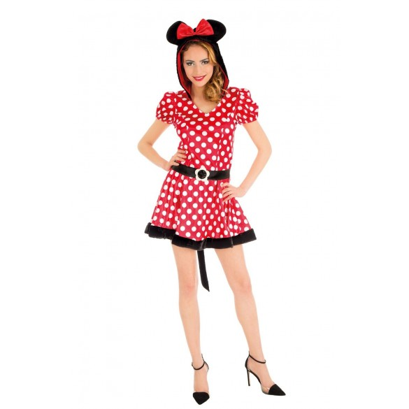 D guisement de sexy minnie femme costume th me dessin anim adulte - Coloriage minnie robe ...