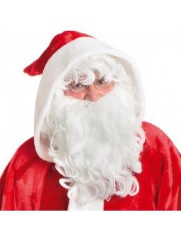 Set perruque et barbe Père Noël super luxe