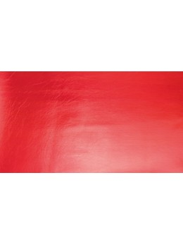 Chemin de table simili cuir rouge