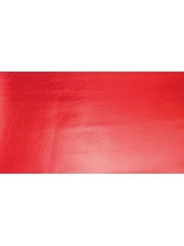 Chemin de table simili cuir rouge