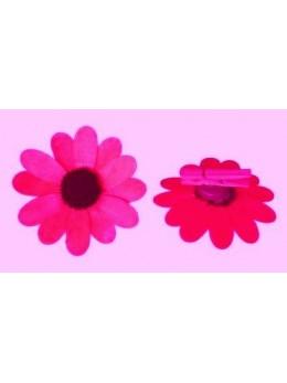 8 fleurs en bois surpince