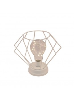 Lampe de table diamant blanc