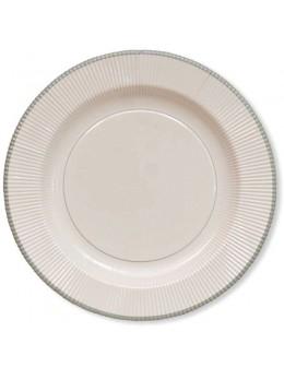 8 assiettes classique argent 27cm
