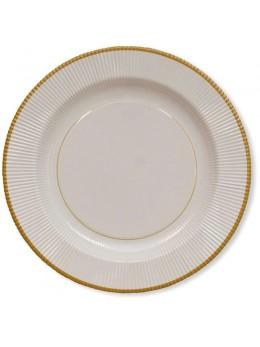 8 assiettes classique or 27cm
