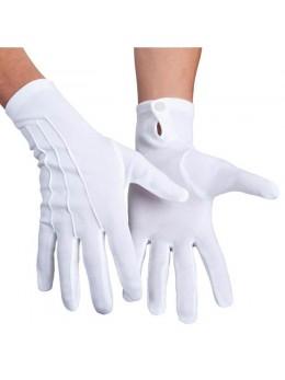 Gants blancs femme deluxe