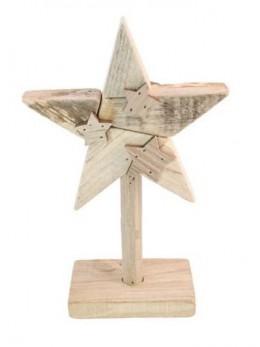 Etoile de Noël en bois 30cm