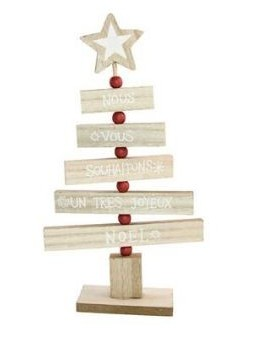 Centre de table sapin en bois 27cm