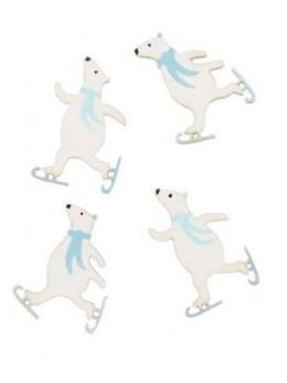 12 ours polaires adhésifs bleu et blanc