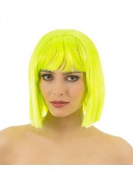 perruque crazy jaune fluo