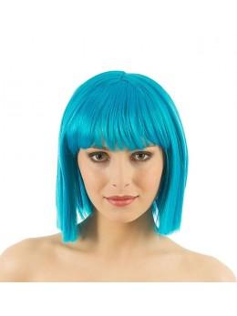 perruque crazy turquoise