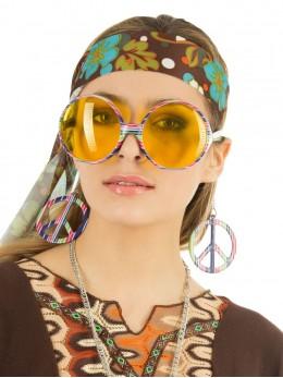 Lunettes hippie géante multicolores