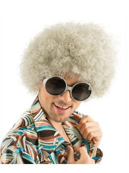 lunettes hippie paillette argent
