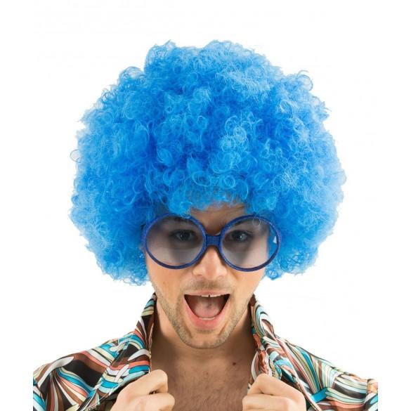 Perruque Afro turquoise | Perruque disco