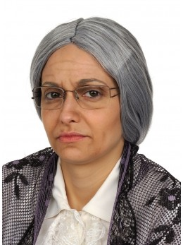 perruque mamie grise