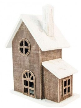 Maison enneigée en bois