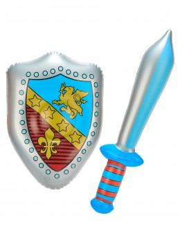Epée et bouclier chevalier gonflable
