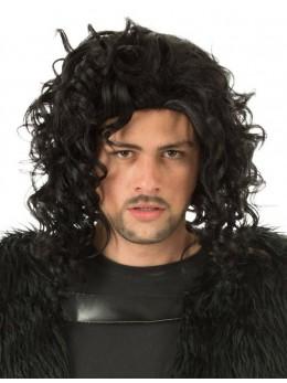 Perruque chevalier noire
