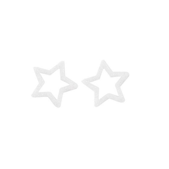 Sachet de 12 étoiles paillettes blanc
