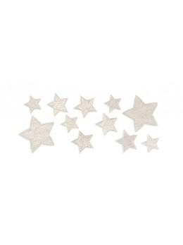 Sachet de 11 étoiles adhésives brillantes argent