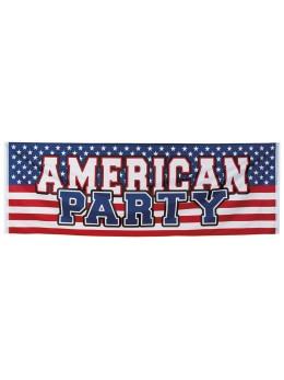 Bannière tissu American Party