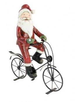 Déco Père Noël sur vélo