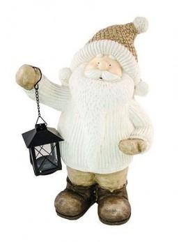 Déco Père Noël avec lanterne 40cm