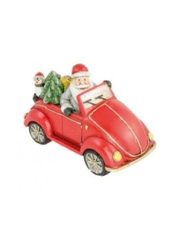 Déco voiture du Père Noël rouge