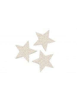 Sachet de 12 étoiles paillettes champagne